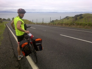 We finally got some nice coastal views on the last day ride from Coromandel to Thames