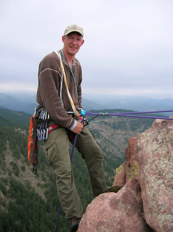 My climbing partner who I met off a local climbing website.  Cannot remember his name but he was a US Ranger and  was just back from Iraq. Nice chap.