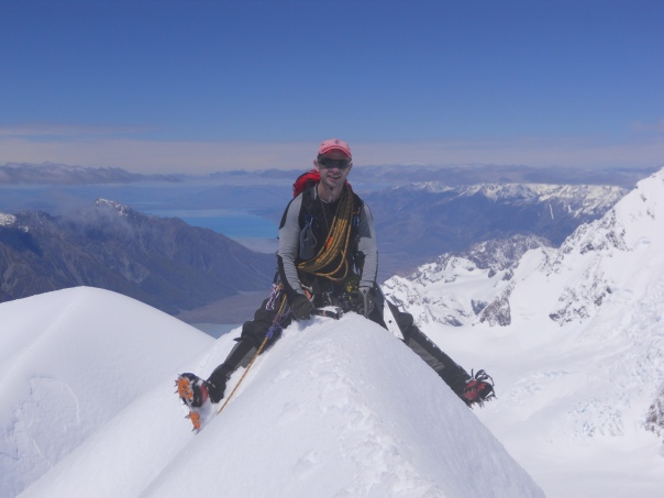 Me enjoying straddling the summit of Mt Dixon. (Photo: Alan Silva)