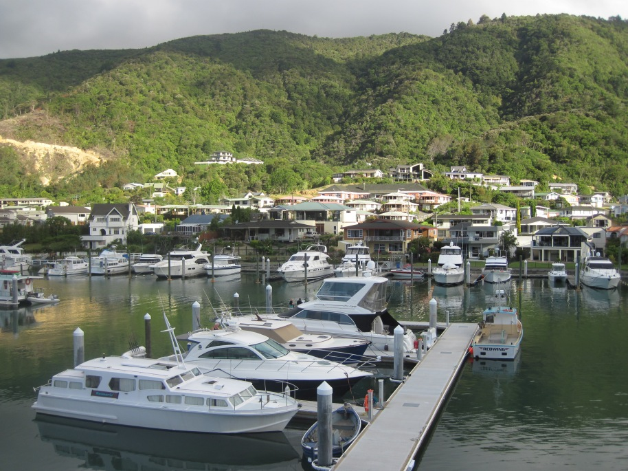 Sleepy little Picton town, where we caught a water taxi to take us to Cook's Cove the start of the Queen Charlotte Track.