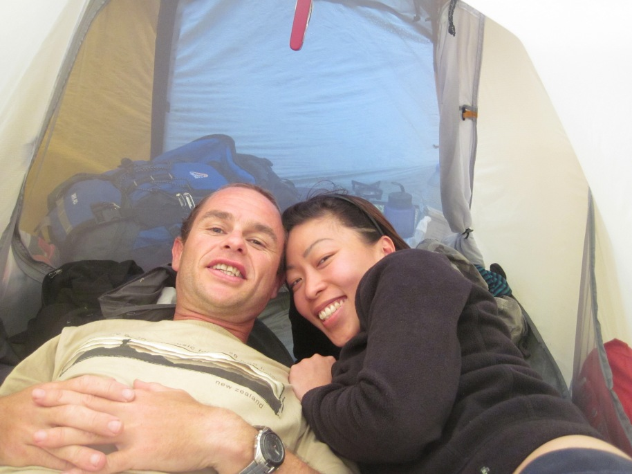We stayed in my MACPAC tent