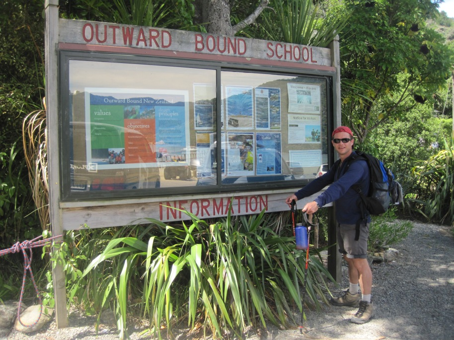 The finish line is at Anakiwa - home of New Zealand's outward bound school which I attended many years ago.