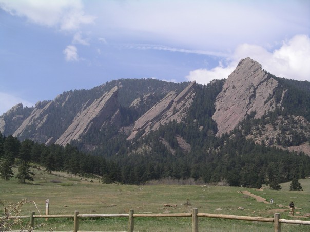 The Flat irons, just outside Boulder.  We climbed the prominent one on the right.