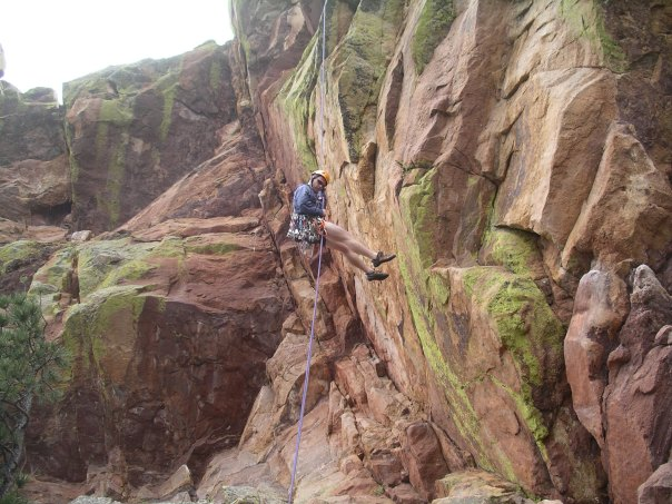 It was easy single rappel to get off the back.