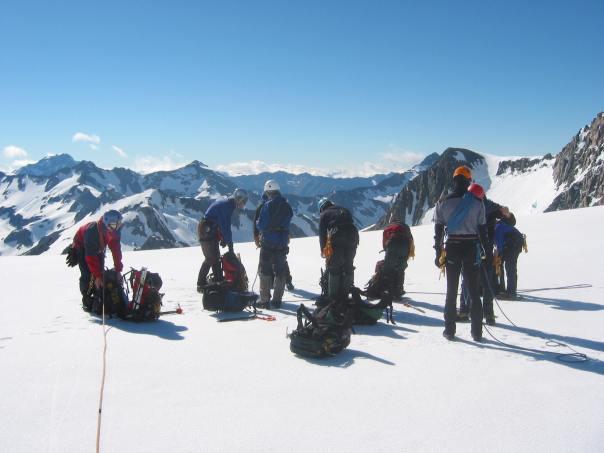 Glacier travel training