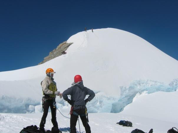 Climbing My Alymer - the standard training peak for TMC's