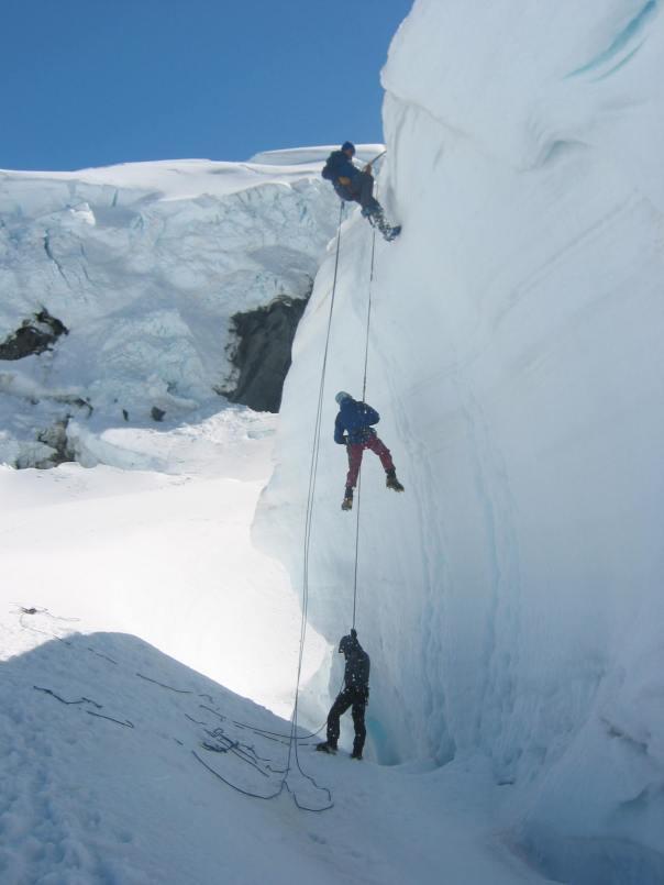 Ice climbing practice