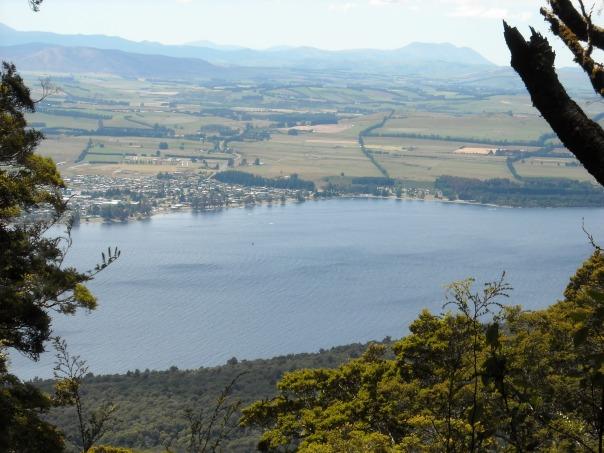 Overlooking Te Anau town and Lake Te Anau on day one