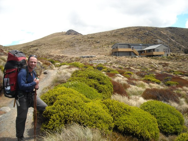 About to arrive at Luxmore hut