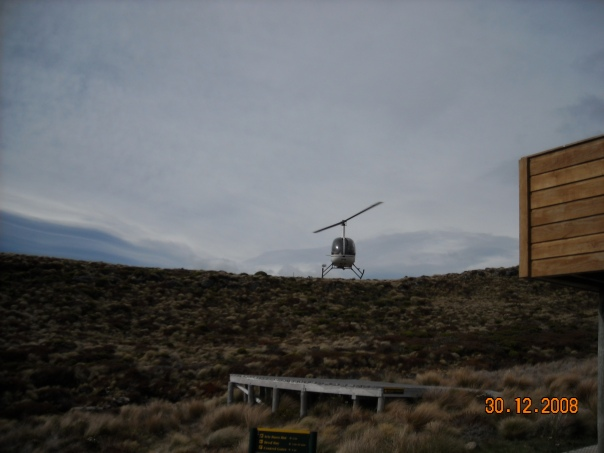This is the wise way to get your bags carried to Luxmore hut - some people had their packs flown up here by helicopter