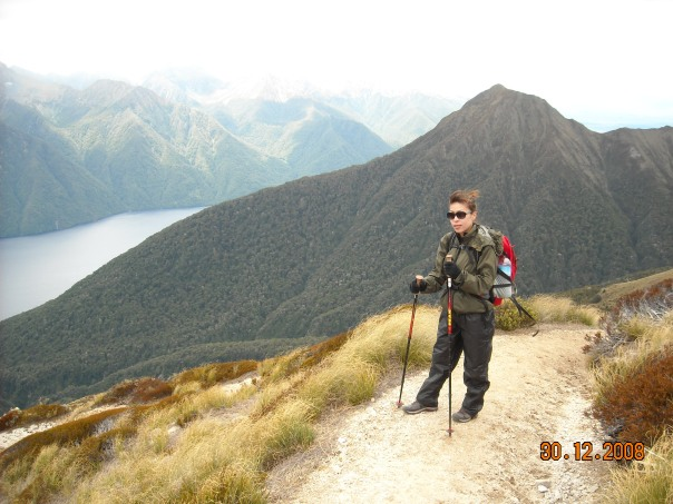Heading along the ridge line on day two