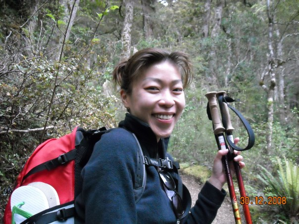 Stephanie on day two, getting a little tired but still smiling