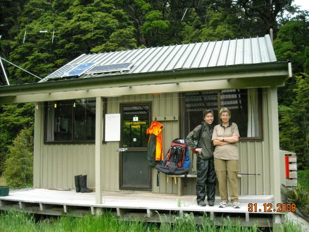 On the second night we stayed with Janet Gray - family friend and DOC hut ranger for the Iris Burn Hut