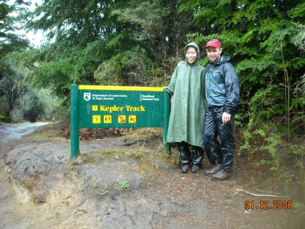 The end of the Kepler track, day three, it rained all day but we had a blast.