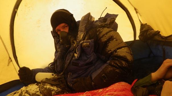 Tent life at 8300m