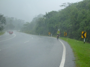 More cycling in the rain on day 3.