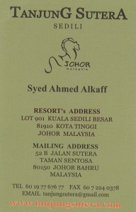 Contact Syed from Tanjung Sutera to book your stay (click image to enlarge).
