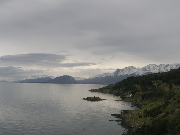 Ushuaia in the distance