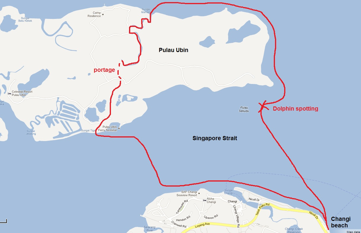 Kayaking Pulau Ubin Rowing Home
