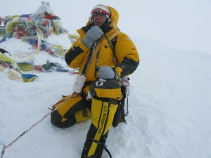 Margaret on the summit of Everest, 2011