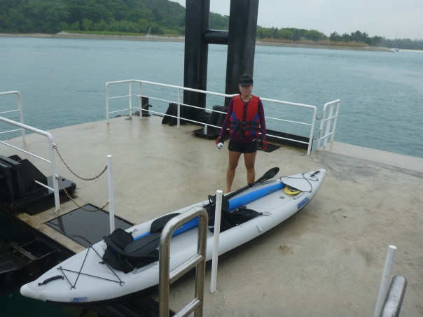 Stephanie arrives at Kusu Island jetty.