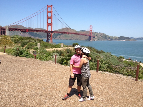 About to cycle over the beautiful Golden Gate bridge.