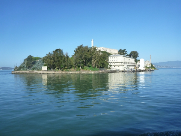 Alcatraz Island - we had a beautiful day with hardly any wind.  The island is so much more beautiful than I thought in  terms of scenery and nice views.