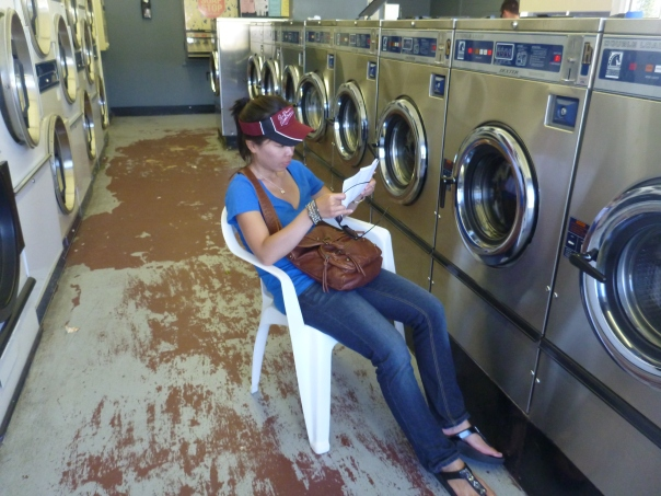 We stayed in the small town of Calistoga in Napa Valley for one night. Calistoga is well known for its hot springs and therapeutic mud baths.  We caught up on our laundry here.