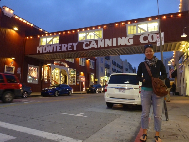 Stephanie in the town of Monterey - ex Sardine cannery capital of the world, now home to a cool aquarium.