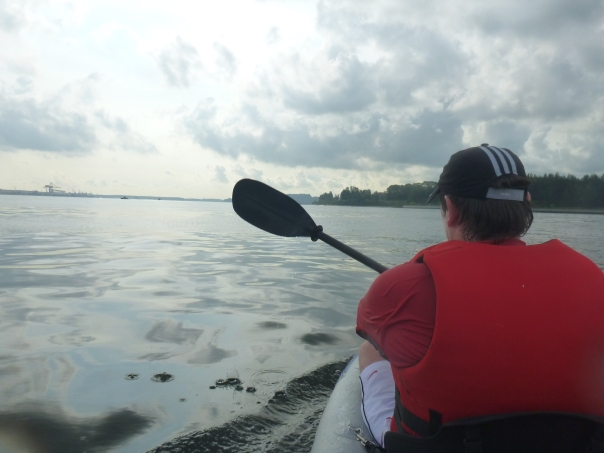 The conditions were smooth and perfect for paddling for the first 10km.