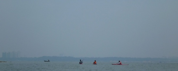 I passed a group of three other kayakers