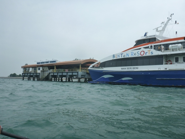 Passing the Tanah Merah Ferry Terminal