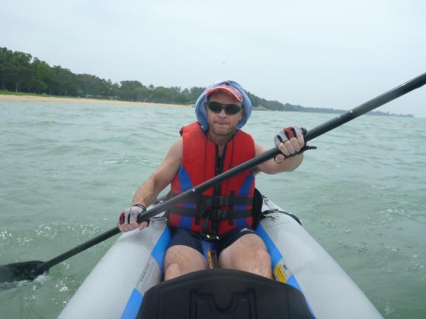 A windy paddle