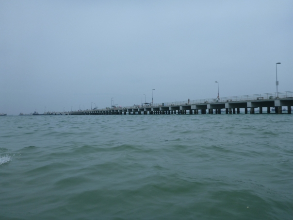 Passing underneath Bedok Jetty
