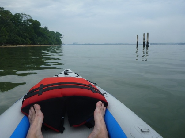 Paddling around the north side of Seletar Island