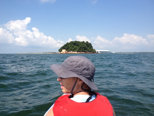 Pulau Jong in front of me is also referred to as the 'hamburger island' because of its shape.