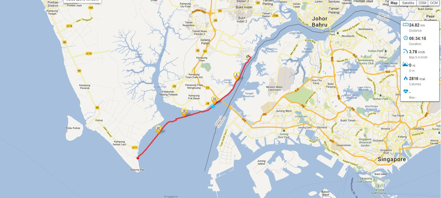 A journey to the end of Asia  Kayaking Tanjung Piai  Rowing from