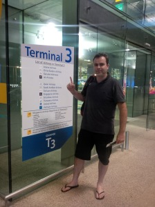 Bevan back at Changi Terninal 3 after a successful microadventure