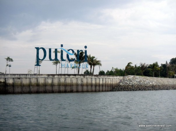 The entrance to Puteri Harbour