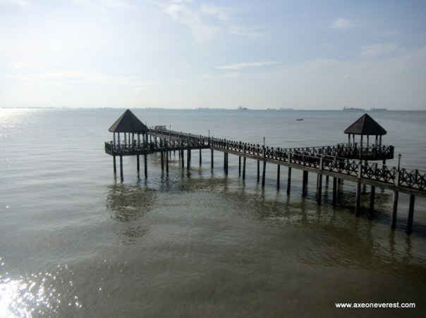 The jetty we landed on from Tanjung Piai.  This is the view from our room.