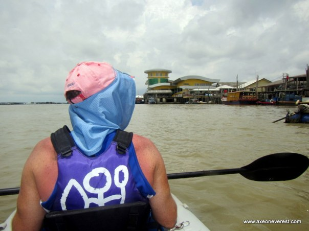 Coming into the ferry terminal at Kukup village.