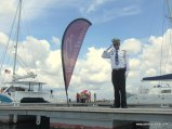 Not many people rock upto Danga Bay's private jetty in their own boat. We even got a salute!
