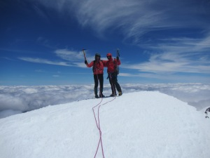 On Top Of Ruapehu, the highest point known as Tahurangi Peak