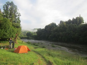 Camp site on the first night on the river.
