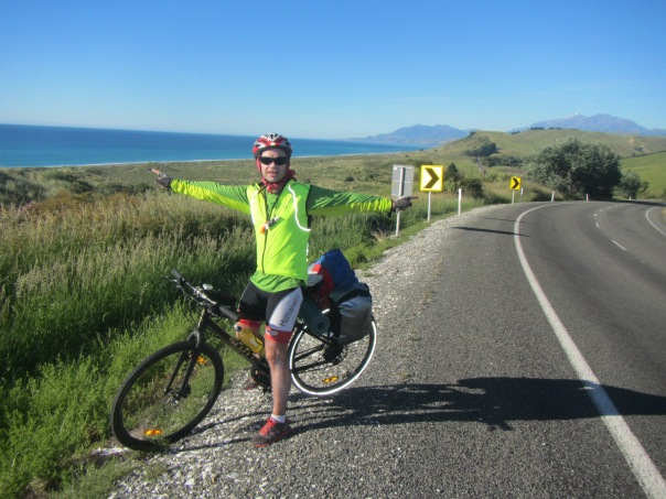 Overlooking the beautiful Kaikoura coastline.