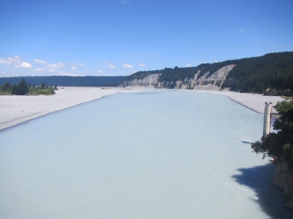 The beautiful Rakaia river as seen from the bottom of the Rakaia Gorge.