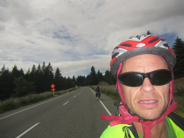 Riding upwards towards Burkes pass at 709m, outside the small town of Fairlie.