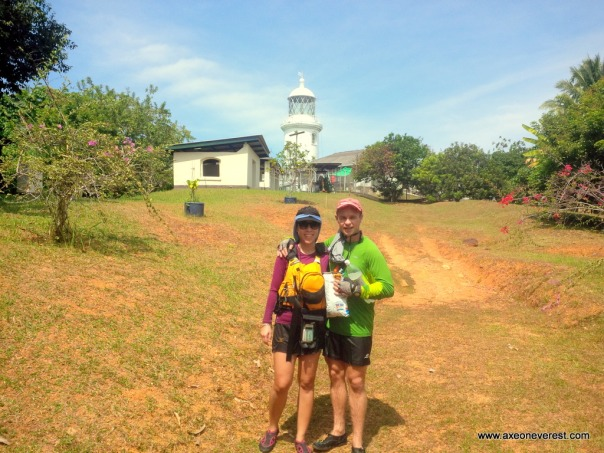 We wandered up the hill to the lighthouse.  Access is denied so we took a photo from outside.