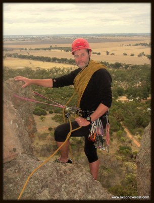 Alan Silva on belay on 'The Bard'