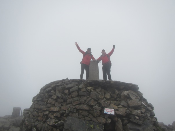 Alan Silva and Grant Rawlinson on the summit of Ben Nevis